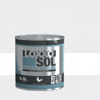 Peinture Loxxo spéciale sol blanc brillant 0.5 L