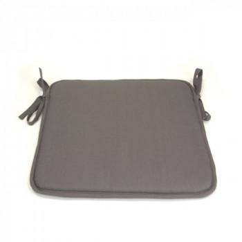 Galette de chaise carrée gris clair 40x40 cm