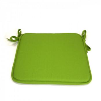 Galette de chaise carrée vert anis 40x40 cm