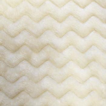 Tissu doux blanc cassé vagues 150 cm