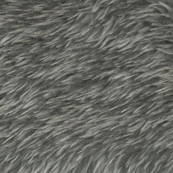 Fausse fourrure gris 150 cm