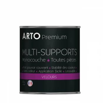 Peinture arto premium multi - supports murs, plafonds, boiseries, plinthes et radiateurs blanc velours 0,5 L