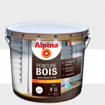 Peinture Alpina spéciale bois miroporeuse vert blanc 10L