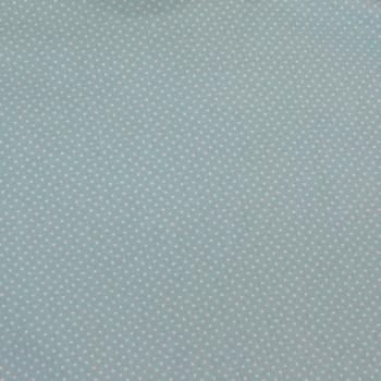 Tissu cretonne pois turquoise 160 cm