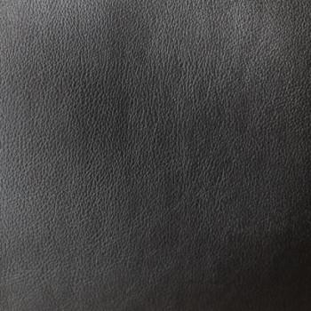 Tissu simili cuir noir envers suédine camel 140 cm