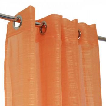 Rideau voile orange Lola fines rayures