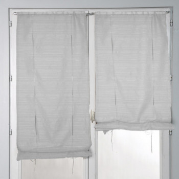 Store remontable fines rayures gris 45 x 160 cm