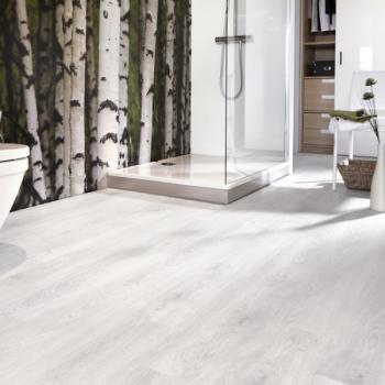 Lame vinyle rigide décor bois blanchi