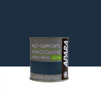 Peinture Apara multi-supports  Murs, plafonds, boiseries, plinthes... bleu phare  satin 0,5L