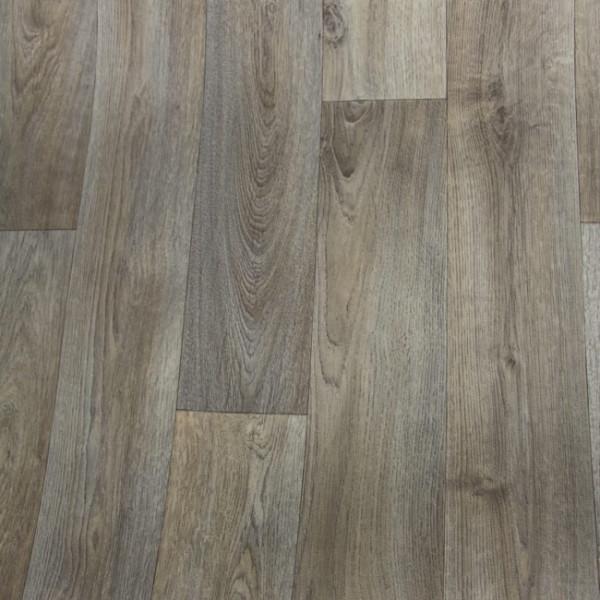 Sol PVC avec support feutre chêne gris