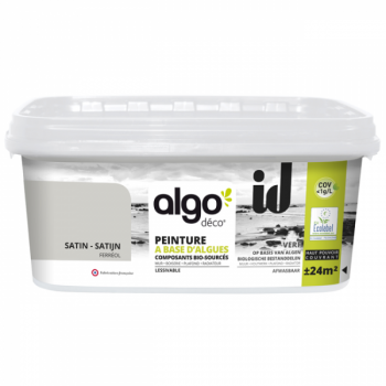Peinture Algo multi-supports Murs, plafonds et boiseries gris ferreol satin 2L