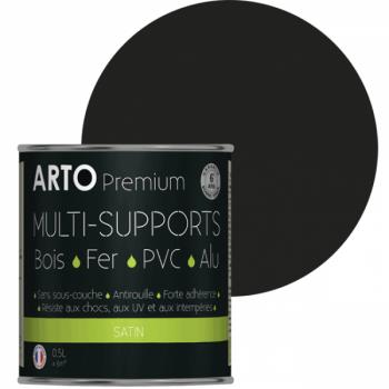 Peinture Arto Premium multi-supports noir satin 0,5L