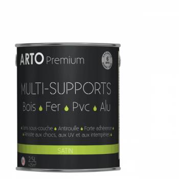 Peinture Arto Premium multi-supports blanc satin 2,5L