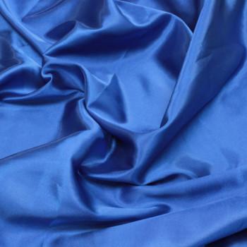 Tissus satin uni bleu roy 140 cm