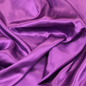 Tissus satin uni violet 140 cm