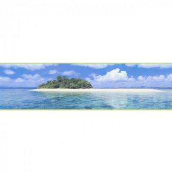 Frise blue island