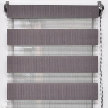 Store enrouleur lumière/nuit gris béton 60 x 180 cm