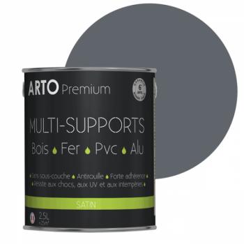 Peinture Arto Premium multi-supports gris bleu satin 2,5L