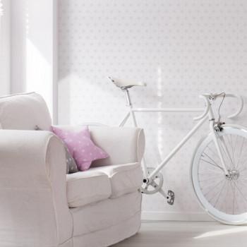 Papier peint intissé lessivable géométrique tendance nordique blanc
