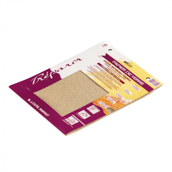 Papiers abrasifs grains gros