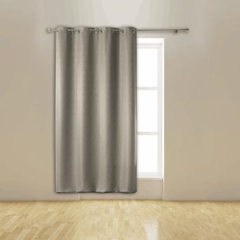Rideau occultant gris isolant thermique