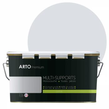 Peinture arto premium multi - supports murs, plafonds, boiseries, plinthes et radiateurs jaune ambre velours  2,5 L