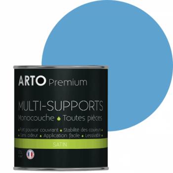 Peinture arto premium multi-supports murs, plafonds, boiseries, plinthes et radiateurs atoll satin 0,5 L