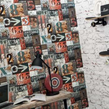 Papier peint urbain Lettres et chiffres