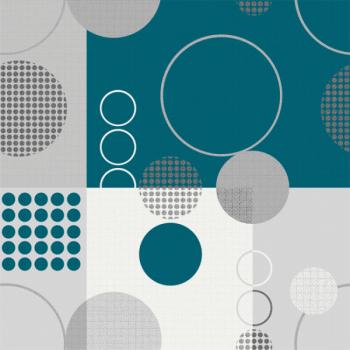 Toile cirée bleu motif géométrique 140 cm