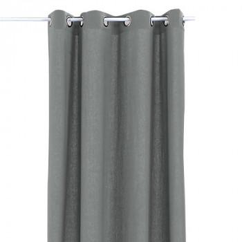 """Rideau œillets lin lavé """"Bohème"""" gris"""