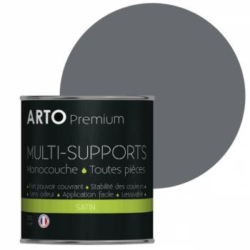 Peinture arto premium multi-supports murs, plafonds, boiseries, plinthes et radiateurs basalte satin 0,5 L