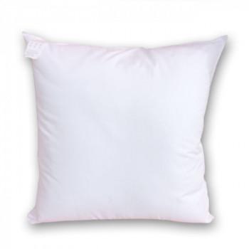 Coussin carré neutre blanc 40 x 40 cm