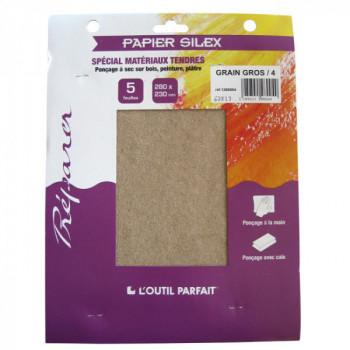 Papier silex spécial matériaux tendres grain gros 4