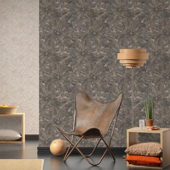 Papier peint intissé lessivable motif feuilles  AS CREATION Francesca Milano