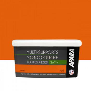 Peinture Apara multi-supports Murs, plafonds, boiseries, plinthes... orange Pays-Bas satin 2,5L