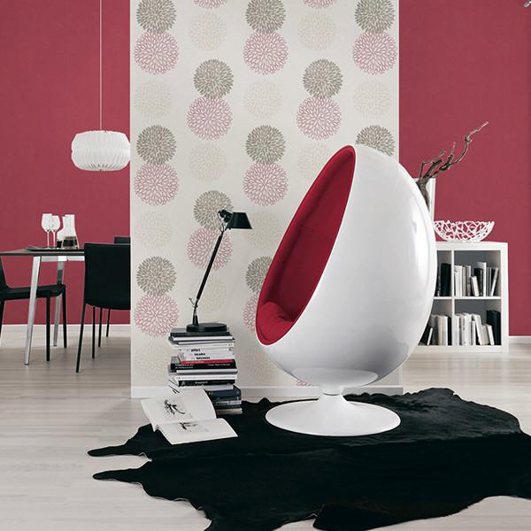 Papier peint intissé motifs rosace AS...