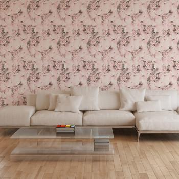 Papier peint intissé lessivable motif pivoine rose AS CREATION