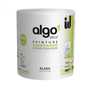 Peinture Algo multi-supports Murs, plafonds et boiseries blanc satin 0,5L