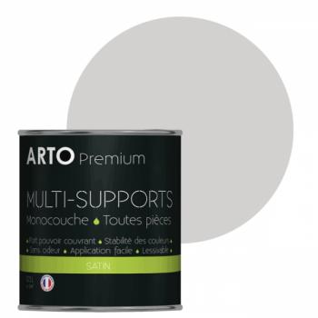 Peinture arto premium multi-supports murs, plafonds, boiseries, plinthes et radiateurs jonc de mer satin 0,5 L