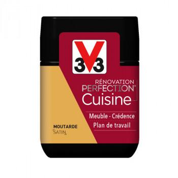 Peinture V33 rénovation cuisine moutarde satin 75 ML