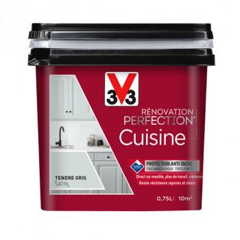 Peinture V33 rénovation cuisine moutarde satin 750 ML