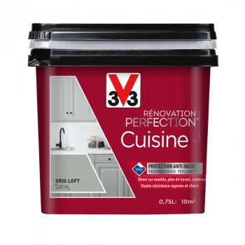 Peinture V33 rénovation cuisine tendre gris satin 750 ML