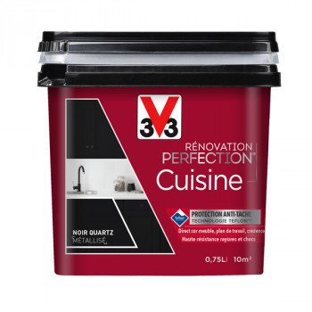 Peinture V33 rénovation cuisine inox métallisé satin 750 ML