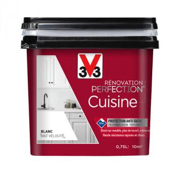 Peinture V33 rénovation cuisine bleu lagon satin 750 ML
