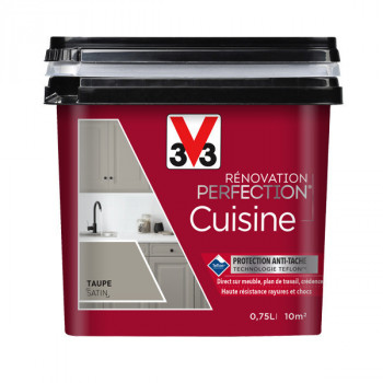 Peinture V33 rénovation cuisine ardoise satin 750 ML