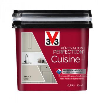 Peinture V33 rénovation cuisine noir smoky satin 750 ML