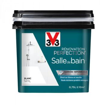 Peinture V33 rénovation salle de bain blanc satin 0,75L