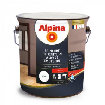 Peinture Alpina murs, plafonds, boiseries et radiateurs blanc laque brillant 2,5L