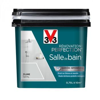 Peinture V33 rénovation salle de bain gris plume satin 0,75L