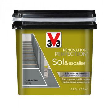 Peinture V33 Sol et escalier carbonate satin 0,75 L